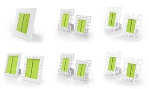 几款相框摆台照片贴图模板分层素材