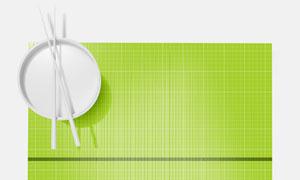 顶视图效果竹编桌布贴图模板源文件