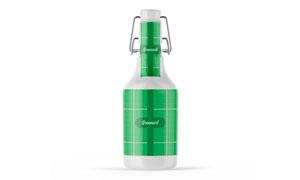 大瓶装的啤酒包装贴图模板分层素材
