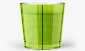 宽口径的蜡烛杯子包装图案应用模板