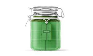 玻璃材质密封罐包装标签贴图源文件