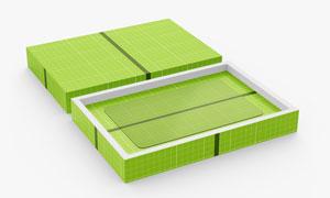 纸盒里的卡片物品贴图模板分层素材