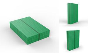 多视图的包装盒应用效果贴图源文件