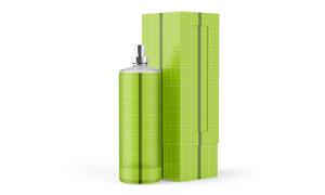 香水与包装盒应用效果展示模板素材