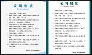 公司制度设计模板PSD源文件