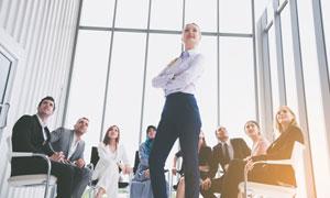 公司团队职场人物主题摄影高清图片