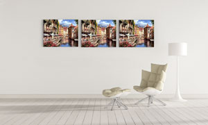 小镇风光主题家居装饰挂画高清图片