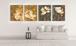 花朵主题艺术油画创意挂画高清图片