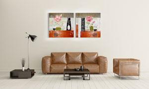 红色玫瑰花?#28982;?#26421;装饰墙画高清图片