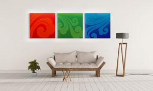 古典祥云图案装饰挂画主题高清图片