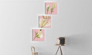百合花卉植物主题墙壁挂画高清图片
