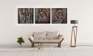 人物绘画创意装饰挂画主题高清图片