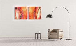 抽象创意人物绘画主题挂画高清图片