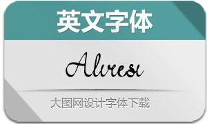 Aliresi-Regular(英文字体)