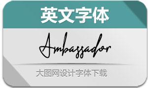 Ambassador(英文字体)