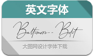 Baltimore-BoldItalic(英文字体)