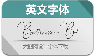 Baltimore-Bold(英文字体)