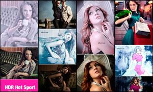 人像粉色系列HDR艺术效果PS动作