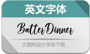 BatterDinner(英文字体)
