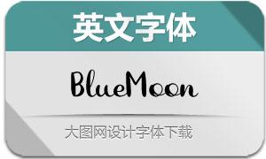 BlueMoon(英文字体)
