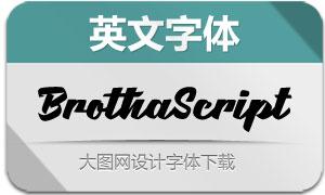 BrothaScript(英文字体)