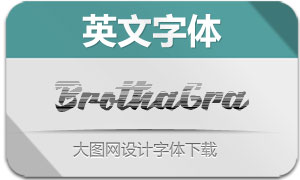 BrothaGradientScript(英文字体)
