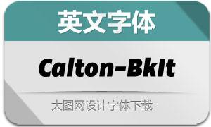 Calton-CaltonBlackItalic(英文字体)