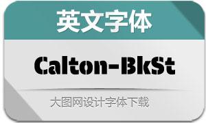 Calton-BlackStencil(英文字体)