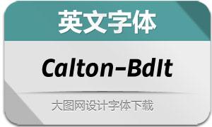 Calton-BoldItalic(英文字体)