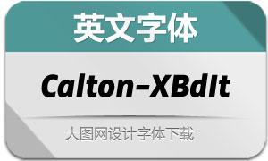 Calton-ExtraBoldItalic(英文字体)