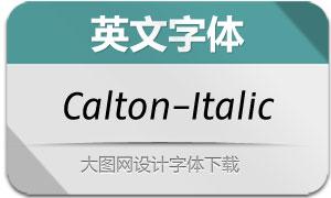 Calton-Italic(英文字体)