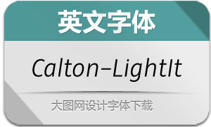 Calton-LightItalic(英文字体)