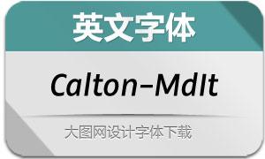 Calton-MediumItalic(英文字体)