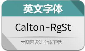 Calton-RegularStencil(英文字体)