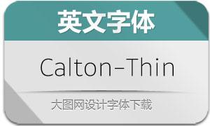 Calton-Thin(英文字体)