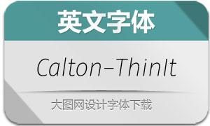 Calton-ThinItalic(英文字体)