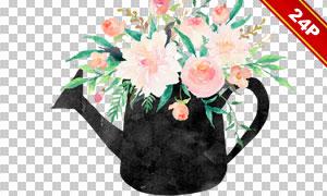 花草元素与蒙版边框等免抠图片素材
