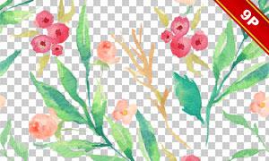 四方连续的水彩图案背景等图片素材