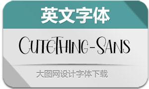 CuteThing-Sans(英文字体)