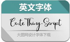 CuteThing-Script(英文字体)