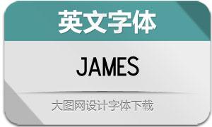 James(英文字体)