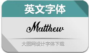 Matthew(英文字体)
