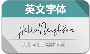 Hello_Neighbor-Regular(英文字体)