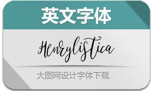 Henrylistica-Regular(英文字体)