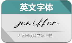 Jeniffer-Regular(英文字体)