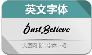 JustBelieve-Regular(英文字体)