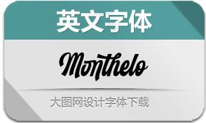 Monthelo系列三款英文字体