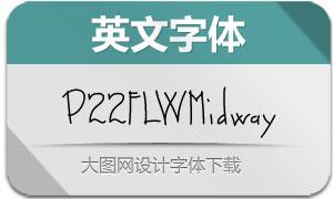 P22FLWMidway系列三款英文字体