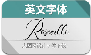 Roseville(英文字体)