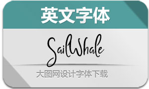SailWhale-Regular(英文字体)
